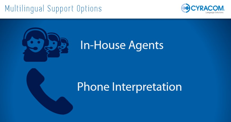 How to handle multilingual calls: In-house agents vs. Phone Interpretation